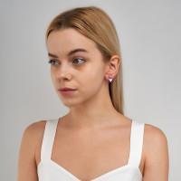 Серебряные серьги детские с эмалью ЫА21135-1