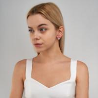 Серебряные серьги детские с эмалью ЫА21159