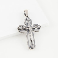 Серебряный крест с фианитами РЫ3600455СЧ