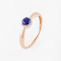 Золотое кольцо с сапфирами гт и бриллиантами ЫЗ5-4081-106-1К-СапГт