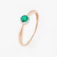 Золотое кольцо с изумрудами гт и бриллиантами ЫЗ5-4081-103-1К-ИзГт