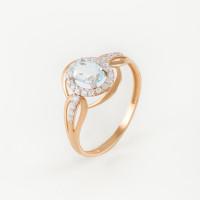 Золотое кольцо с топазами и фианитами ЮПК1347696тг