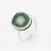Серебряное кольцо с фианитами ВПК64КЛ