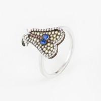 Серебряное кольцо с фианитами ВПК73КЛ