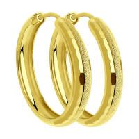 Золотые серьги конго ДИ140055-2