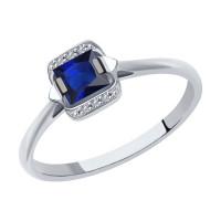 Золотое кольцо с сапфирами и бриллиантами ДИ2011158
