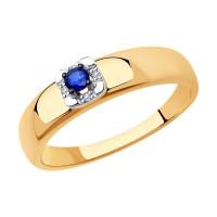 Золотое кольцо с сапфирами и бриллиантами ДИ2011139