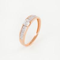 Золотое кольцо с фианитами и сваровски ЮПК13212478