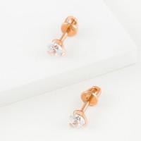 Золотые серьги гвоздики с сваровски ЮПС13211029