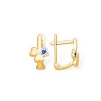 Золотые серьги детские с фианитами ЮПС13213561