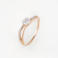 Золотое кольцо с фианитами ЛФР01-З-59248-З