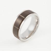 Стальное кольцо мужское