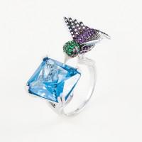 Серебряное кольцо с фианитами ВПК90КЛ