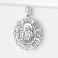 Серебряная иконка с фианитами ЯВ8551С