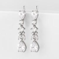 Серебряные серьги подвесные с фианитами ЗК0201301-00775