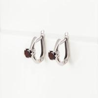 Серебряные серьги с гранатами и фианитами ИТ22533-006-9