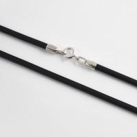 Каучуковый шнурок с серебряной вставкой НРСР6033 женская