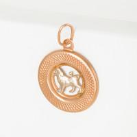Золотой знак зодиака «лев»