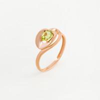 Золотое кольцо с хризолитом ЮПК10411977хр