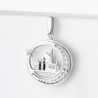Серебряная мечеть с фианитами АБ3205503