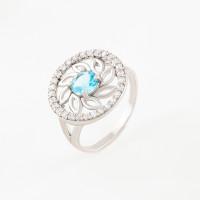 Серебряное кольцо с фианитами и алпанитами ПЮ261437гл