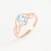 Золотое кольцо с топазами ЮПК1343573тг