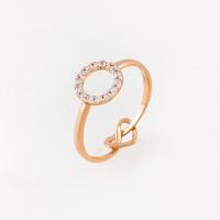 Золотое кольцо с фианитами СН01-115284