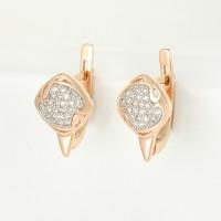 Золотые серьги с бриллиантами СК0202855