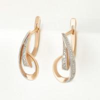 Золотые серьги с бриллиантами СК0202187