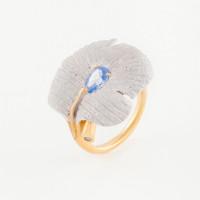 Серебряное кольцо с сваровски ПВР-0125гл
