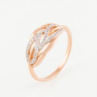 Золотое кольцо с фианитами ПЗ12818