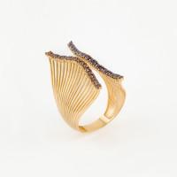 Золотое кольцо с фианитами МЦАСД0035