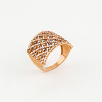 Золотое кольцо с фианитами МЦКДР0104