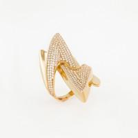Золотое кольцо с фианитами МЦКДР0483