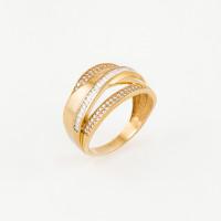 Золотое кольцо с фианитами МЦРИНГ5051