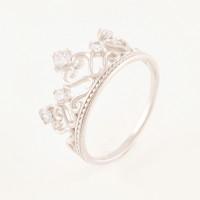Серебряное кольцо с фианитами 6В10-0060