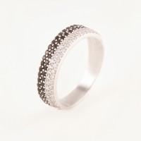 Серебряное кольцо с фианитами БХК-01