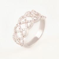 Серебряное кольцо с фианитами БХК-02