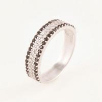 Серебряное кольцо с фианитами БХК-04