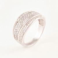 Серебряное кольцо с фианитами БХК-06