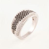 Серебряное кольцо с фианитами БХК-07