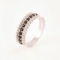 Серебряное кольцо с фианитами БХК-08