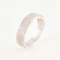 Серебряное кольцо с фианитами БХК-09