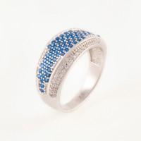 Серебряное кольцо с фианитами БХК-010