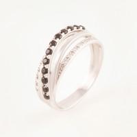 Серебряное кольцо с фианитами БХК-011