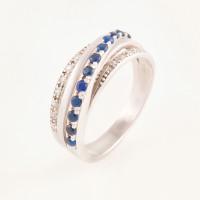 Серебряное кольцо с фианитами БХК-012