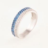 Серебряное кольцо с фианитами БХК-013
