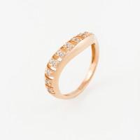 Золотое кольцо с фианитами РЦК413032