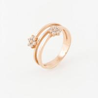 Золотое кольцо с фианитами РЦК413118