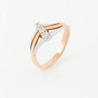 Золотое кольцо с фианитами РЦК443617